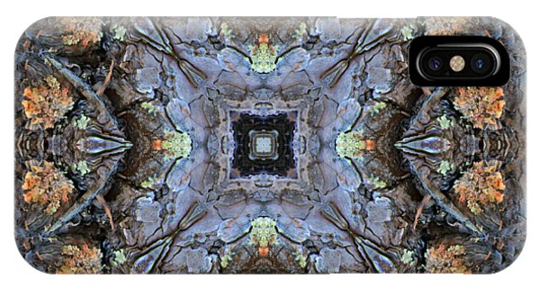 Winged Creatures In A Star Kaleidoscope #2 IPhone Case