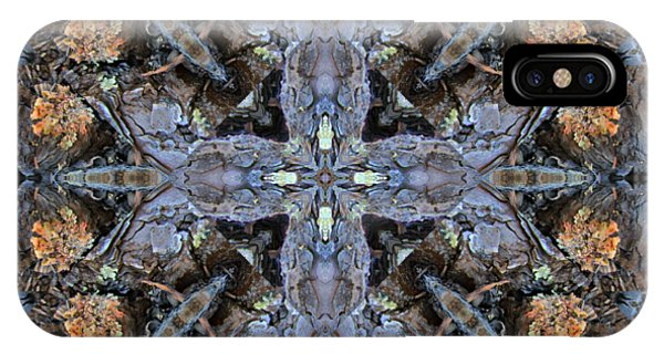 Winged Creatures In A Star Kaleidoscope #3 IPhone Case