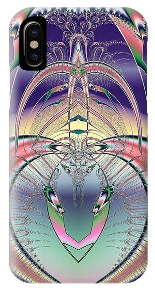 Winged Soul Flying Heavenward Fractal IPhone Case