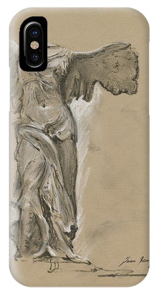 Wings iPhone Case - Winged Vicory Of Samothrace by Juan Bosco