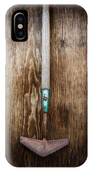Farm Tool iPhone Case - Tools On Wood 5 by Yo Pedro