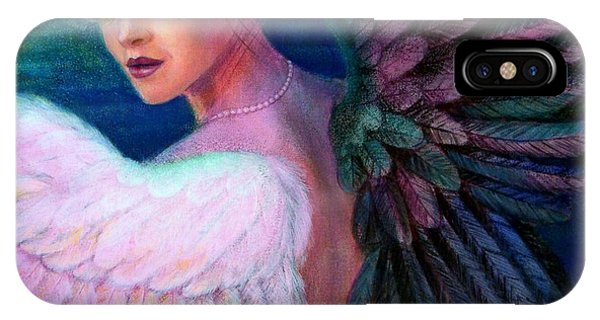 Peacocks iPhone Case - Wings Of Duality by Sue Halstenberg