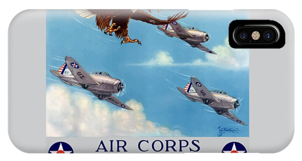 Americana iPhone Case - Wings Over America - Air Corps U.s. Army by War Is Hell Store