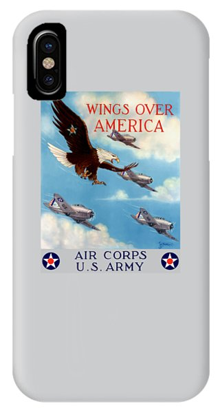 Political iPhone Case - Wings Over America - Air Corps U.s. Army by War Is Hell Store