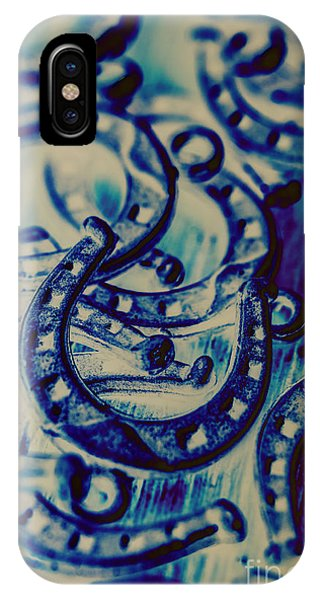 Closeup iPhone Case - Winning Blue Country Tokens by Jorgo Photography - Wall Art Gallery