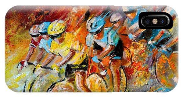Winning The Tour De France IPhone Case