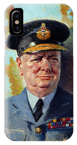 Prime Minister iPhone Case - Winston Churchill In Uniform by War Is Hell Store