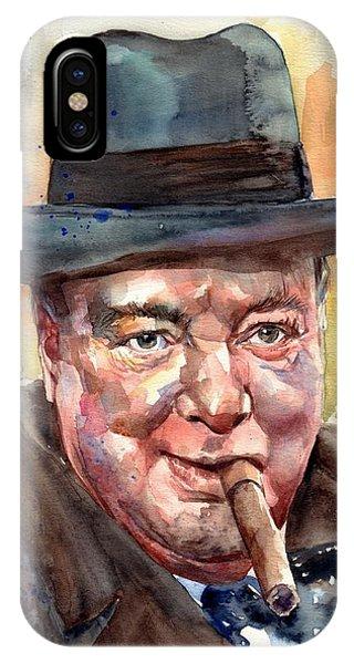 Blues Legends iPhone Case - Winston Churchill by Suzann's Art