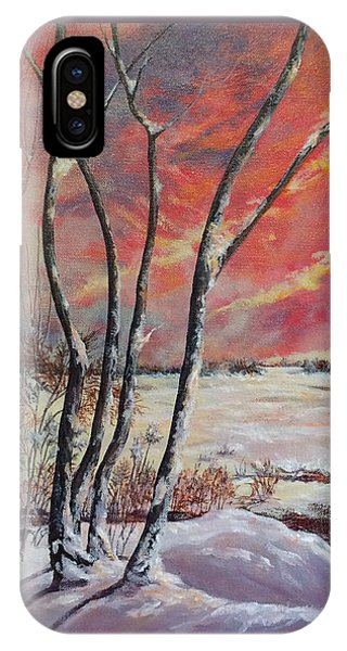 Winter Across The Lake  IPhone Case