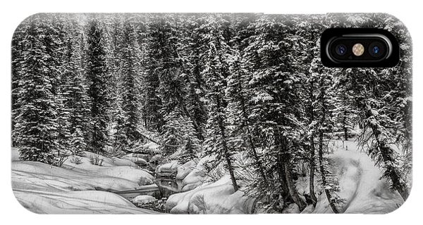 Winter Alpine Creek II IPhone Case