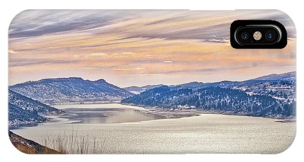Winter At Horsetooth Reservior IPhone Case