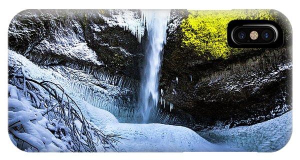 Winter At Latourell Falls IPhone Case