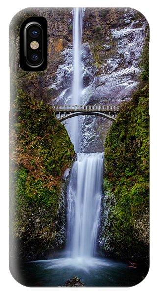 Winter At Multnomah Falls 2 IPhone Case