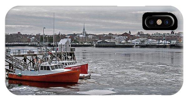 Winter At Newburyport Harbor IPhone Case