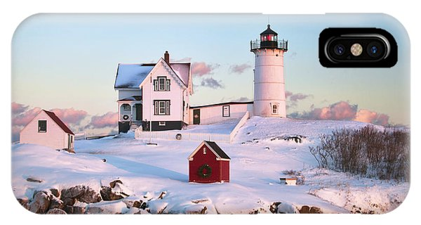 Winter At Nubble IPhone Case
