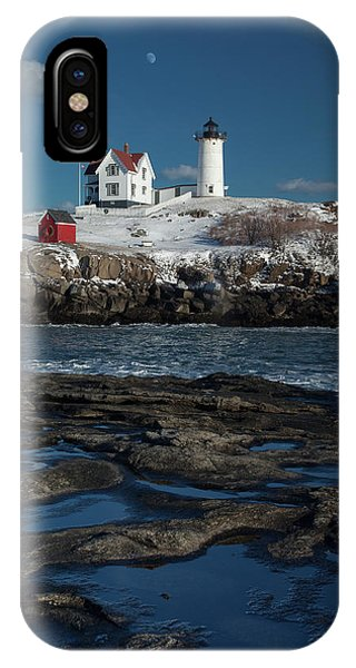 Winter At Nubble Lighthouse IPhone Case