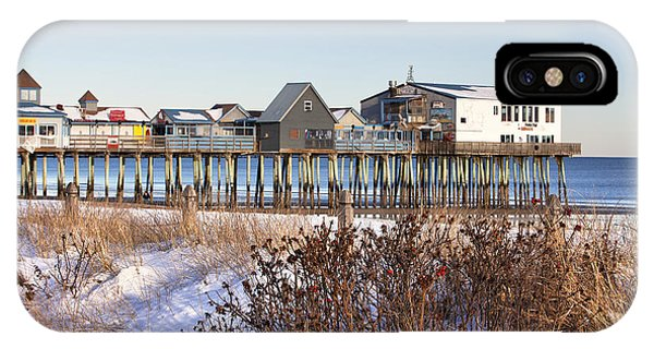 Orchard Beach iPhone Case - Winter At Old Orchard Beach by Eric Gendron
