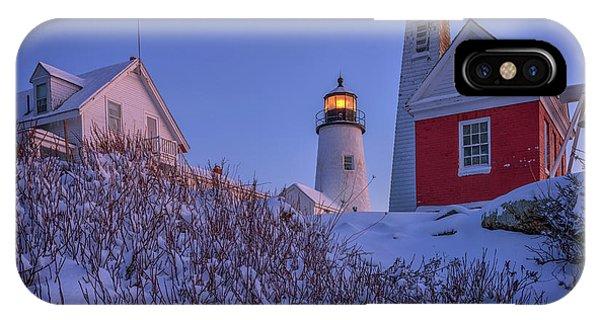 Navigation iPhone Case - Winter At Pemaquid Point by Rick Berk