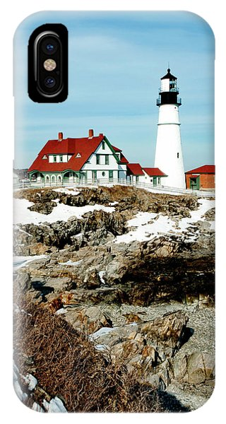 Winter At Portland Head IPhone Case