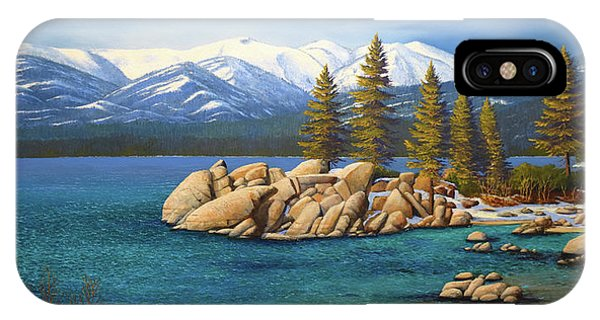 Winter At Sand Harbor Lake Tahoe IPhone Case