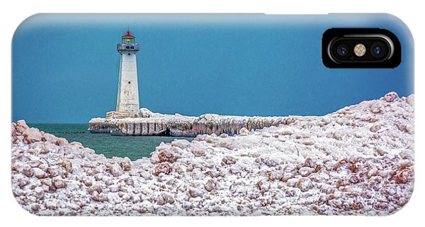 Winter At Sodus Point  IPhone Case
