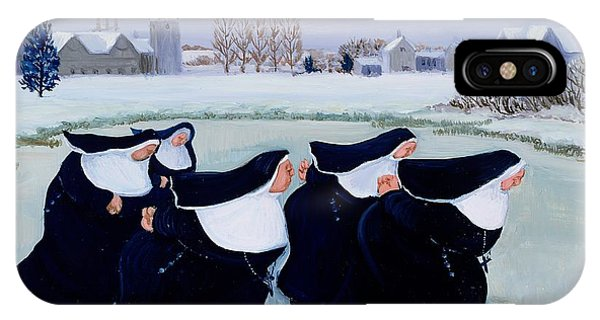 Ice iPhone Case - Winter At The Convent by Margaret Loxton