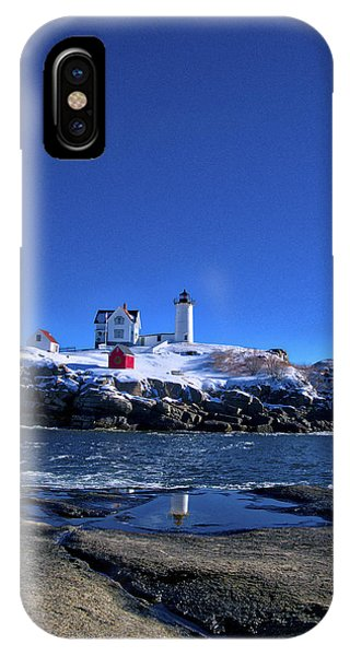 Winter At The Nubble Lighthouse - York - Maine IIi IPhone Case