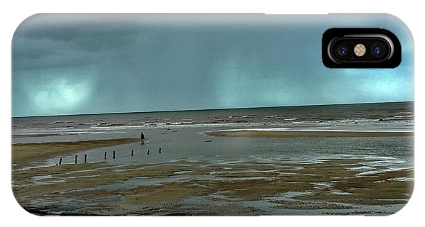 IPhone Case featuring the photograph Winter Beach by Debbie Cundy