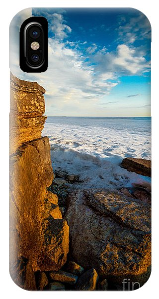 Winter Beach Sunset IPhone Case