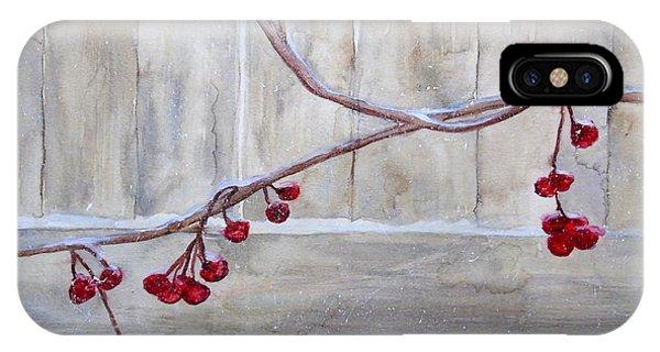 Winter Berries Watercolor IPhone Case
