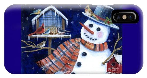 Winter Birds Delight IPhone Case