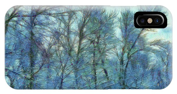 Winter Blue Forest IPhone Case