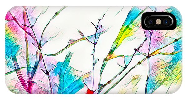 Winter Branch Colors IPhone Case