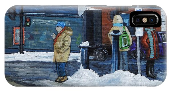 Winter Bus Stop IPhone Case