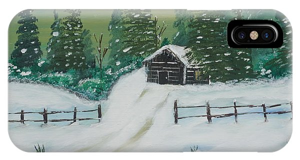 Winter Cabin IPhone Case