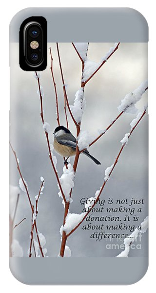 Winter Chickadee Giving IPhone Case