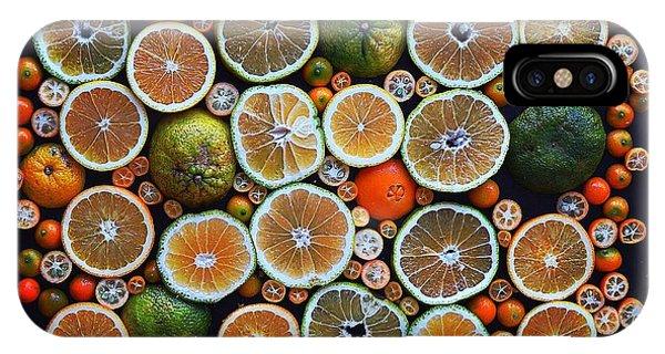 Winter Citrus Mosaic IPhone Case