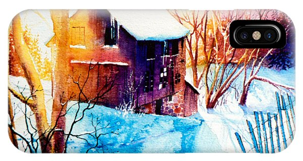 Barn Snow iPhone Case - Winter Color by Hanne Lore Koehler