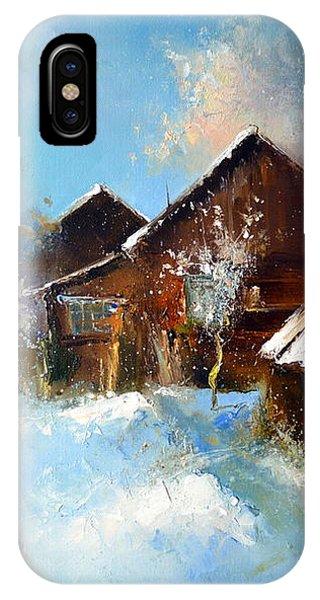 Winter Cortyard IPhone Case