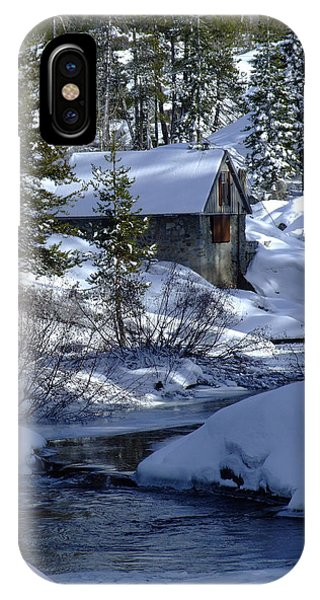 Winter Cottage IPhone Case