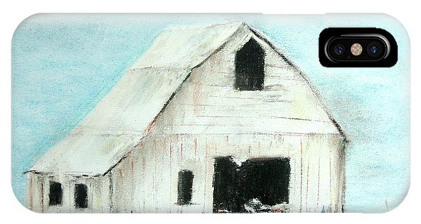 Winter Country Barn IPhone Case