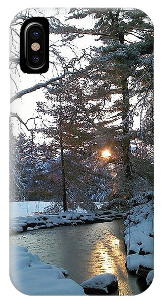 IPhone Case featuring the photograph Winter Creek by Melinda Blackman