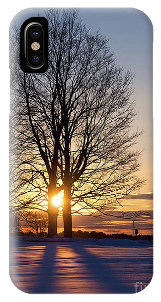 Winter, Crystal Spring Farm, Brunswick, Maine -78592 IPhone Case