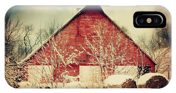 Winter Day On The Farm IPhone Case
