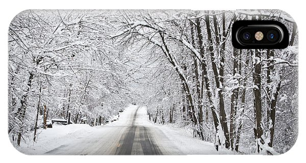 Winter Drive On Highway A IPhone Case