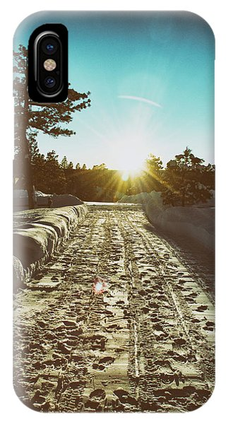 Winter Driveway Sunset IPhone Case