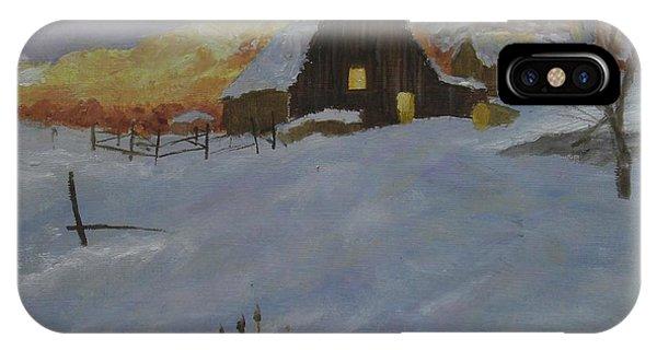 Winter Dusk On The Farm IPhone Case