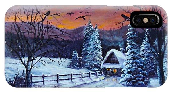 Winter Evening 2 IPhone Case