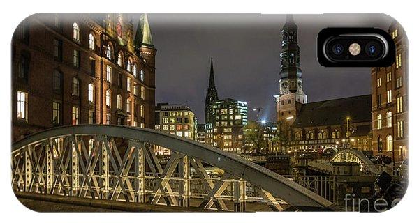 Winter Evening In Hamburg  IPhone Case