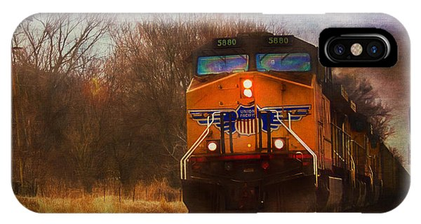 Winter Evening Union Pacific Train IPhone Case